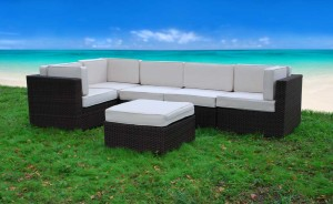 outdoor resin wicker furniture sectional
