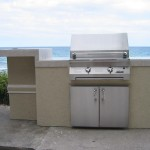 custom grill island with infrared built in grill by solaire