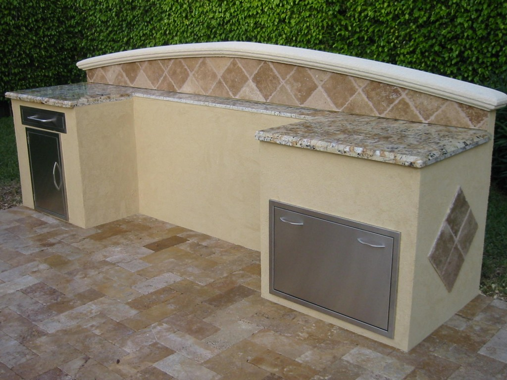 Outdoor kitchen for weber barbeque grill