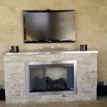 Custom outdoor ventless gas log fireplace