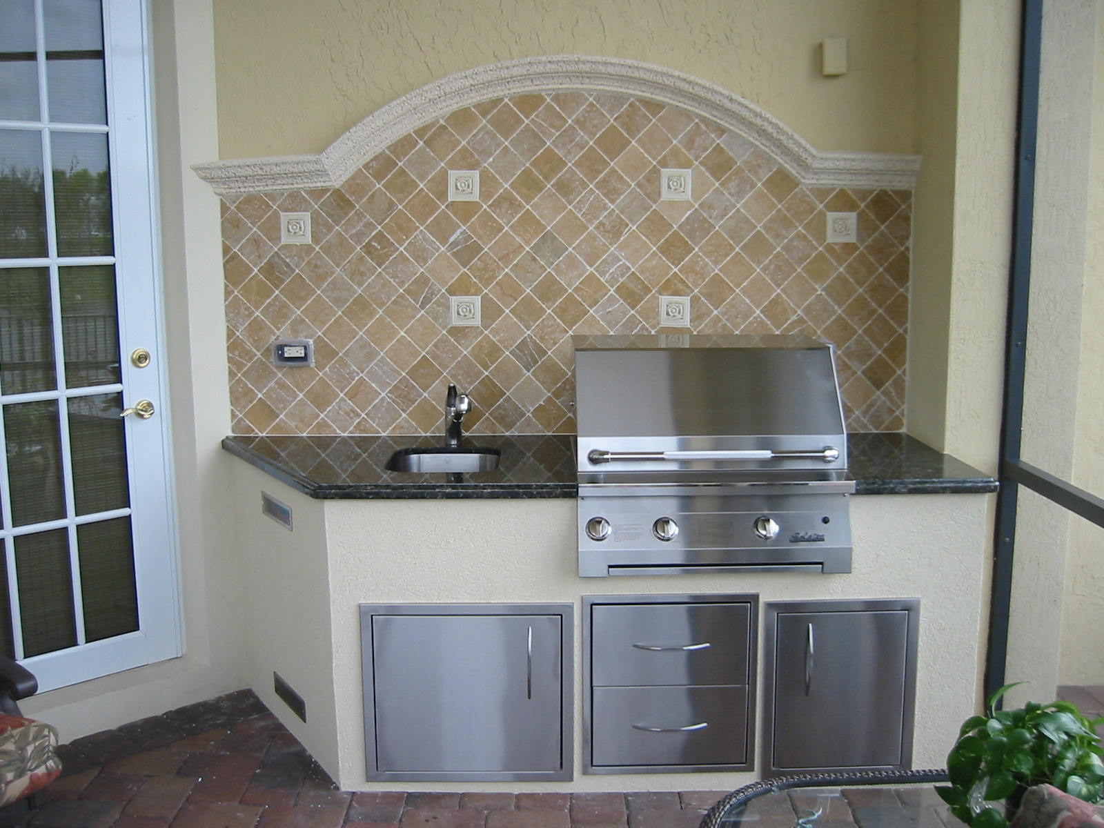more outdoor kitchen grill island designs with built in