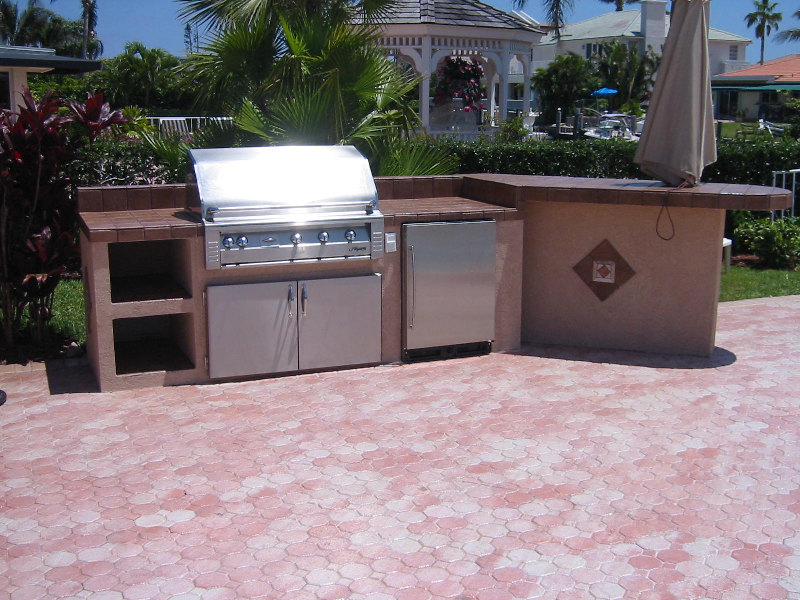 Custom Built In Barbecue