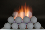 fire ball in vent free gas fireplace